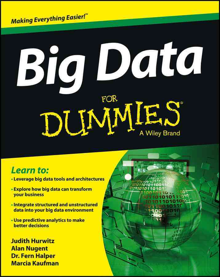 Big Data for Dummies By Hurwitz, Judith